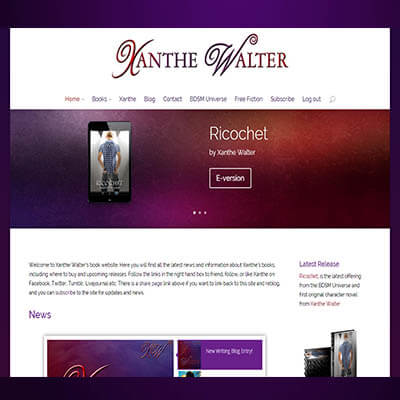 New Look at Xanthewalter.com!
